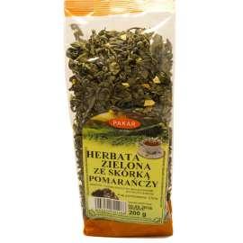 Herbata Zielona liściasta GUNPOWDER ze skórką pomarańczy