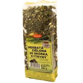 Herbata Zielona liściasta GUNPOWDER ze skórką cytryny